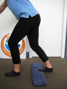 Soleus muscle stretch